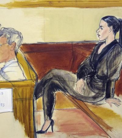 Presumen que Emma Coronel trató de fotografiar a testigo durante juicio contra 'El Chapo'