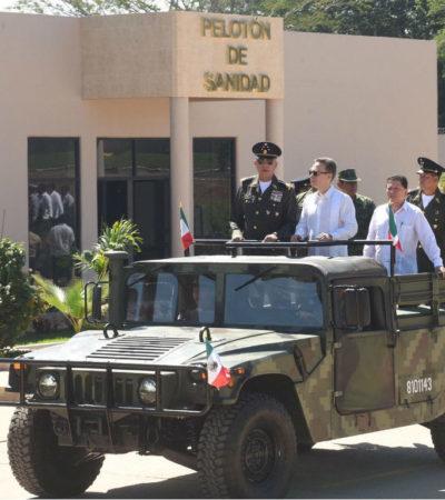 Inauguran Velasco y Cienfuegos nuevo cuartel militar en Chiapas, pese a críticas de grupos sociales