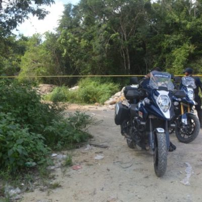 Hallan cuerpo de un hombre asesinado a pedradas rumbo al basurero de Playa del Carmen