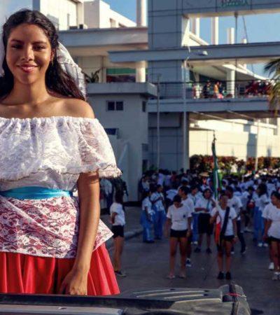 Preside Pedro Joaquín en Cozumel desfile con motivo del aniversario de la Revolución