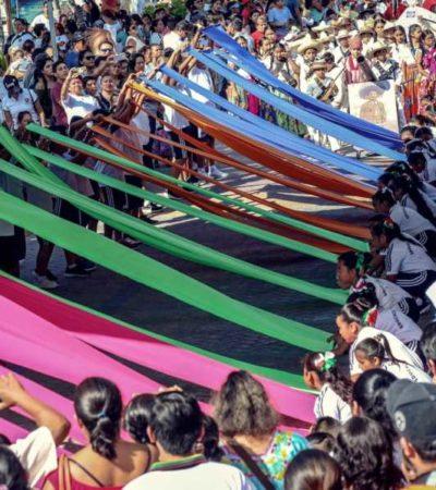 Participan 19 contingentes en el desfile revolucionario de Isla Mujeres