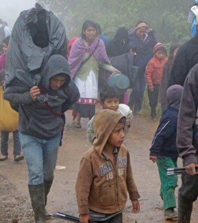 Abandonan 2 mil tsotsiles localidad en Chiapas tras ataque de grupo armado