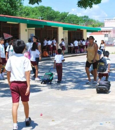 Arribo anticipado de hijos de militares, incrementó la demanda educativa, por lo que la Secretaría de Educación busca construir nuevas escuelas en Cancún
