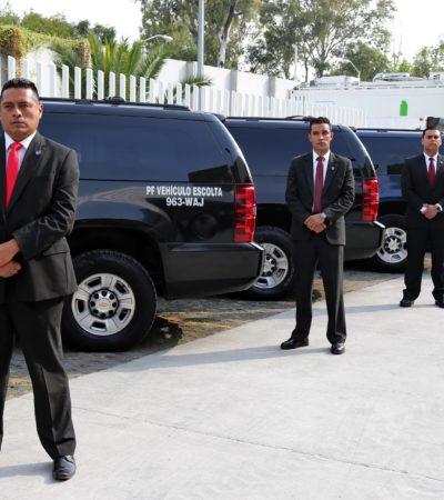 Se quedan secretarios de estado desde hoy sin escoltas; últimos días para expresidentes