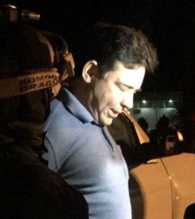 Trasladan al exgobernador Eugenio Hernández de Ciudad Victoria, Tamaulipas, a un penal federal