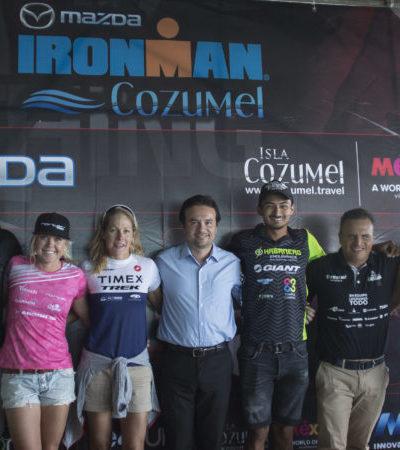 Anuncia Pedro Joaquín que la isla de Cozumel recibirá a más de dos mil triatletas de todo el mundo, para la 10a edición del Ironman