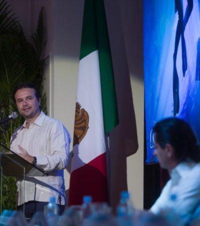 Ante empresarios, destaca Pedro Joaquín la diversificación turística de Cozumel y la reactivación económica con la realización de eventos deportivos