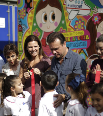 Pedro Joaquín inaugura actividades de prevención de accidentes en niños en Cozumel
