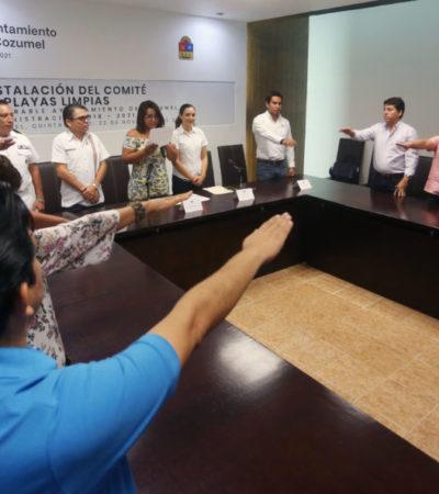 Instala Gobierno de Cozumel Comité de Playas Limpias