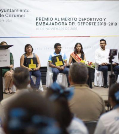 Pedro Joaquín entrega el premio municipal del Deporte 2018 y se compromete a favorecer las actividades deportivas en Cozumel
