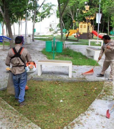 Más de 3 mil toneladas de desechos han sido levantados de las áreas públicas, dentro del programa 'Brigadas con Rumbo' en Puerto Morelos