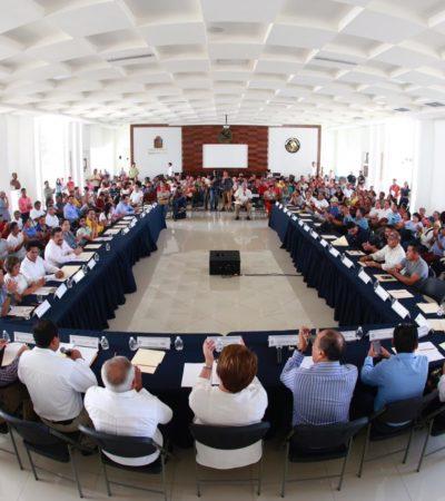 Instalan Consejo Municipal de Desarrollo Sustentable de Solidaridad y anticipan apoyos para el campo