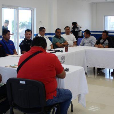 Se reúnen mandos de Seguridad Pública con empresas para poner orden en el servicio de grúas en Playa del Carmen