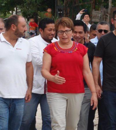 Román Meyer Falcón, propuesto para dirigir la Sedatu, se reúne con Alcaldesa de Solidaridad, para explicar alcances del Tren Maya a su paso por la Riviera Maya