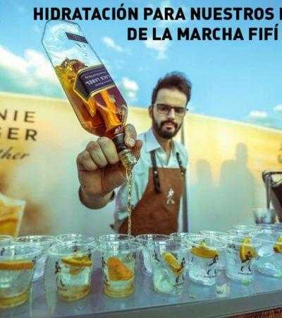 'Hidratación para nuestros hermanos de la marcha fifí' a favor del aeropuerto en Texcoco