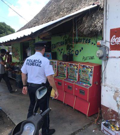 Aseguran máquinas tragamonedas en Carrillo Puerto