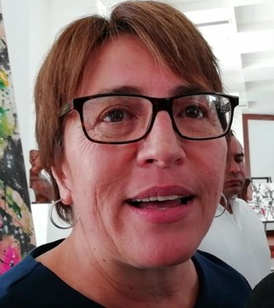 Rompeolas: Trato grosero y fuera de lugar de Laura Beristaín a reporteros de Playa del Carmen