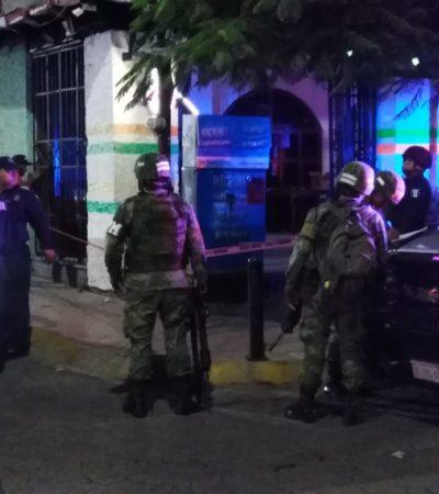 Detienen a siete por escandalizar y disparar en un bar de la Yaxchilán
