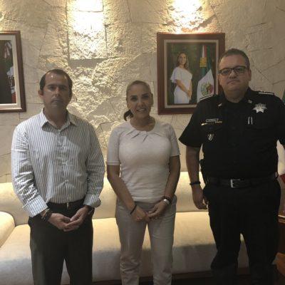 Se reúne Mara Lezama con Capella y acuerdan que si policías en paro no regresan a sus labores se les descontará el día