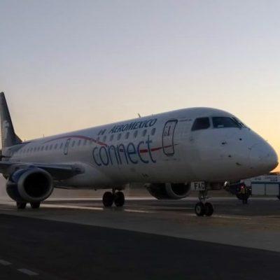 Inaugura Aeroméxico vuelo Medellín-Cancún