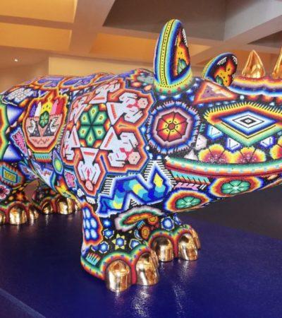 Inauguran la exposición 'Pasiones' de arte huichol en Cancún