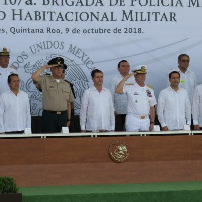 LA ÚLTIMA VISITA DE PEÑA A QR: La inauguración de la X Brigada Militar fue el último evento del Presidente saliente en Cancún