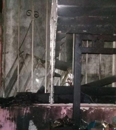 Sobrecarga eléctrica causa incendio en Chetumal