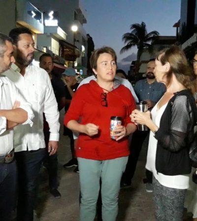 ANUNCIA ALCALDESA REMODELACIÓN DE LA QUINTA: Dice Laura Beristaín que no tiene que pagar por barrera antisargazo, contratada por Cristina Torres