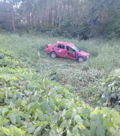 'Pestañazo' deja cuatro heridos en carretera de Campeche