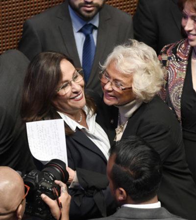 Aprueba Senado licencias de Olga Sánchez, que va a Gobernación, y de Rocío Nahle, que va a Energía
