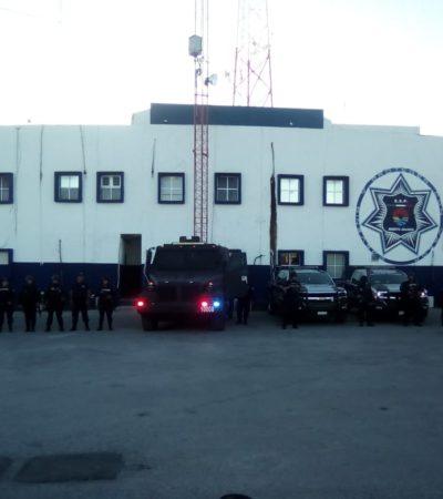 RETOMAN CONTROL DE LA POLICÍA DE CANCÚN: Con apoyo de la Marina, elementos estatales recuperan instalaciones de la Secretaría Municipal de Seguridad Pública y Tránsito
