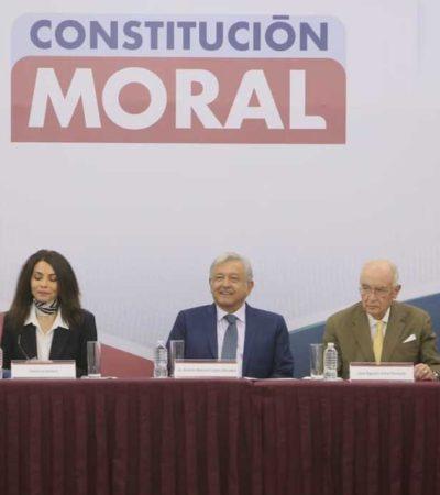 'NO SÓLO DE PAN VIVE EL HOMBRE': Asegura AMLO que 'Constitución Moral' fortalecerá el 'bienestar del alma'
