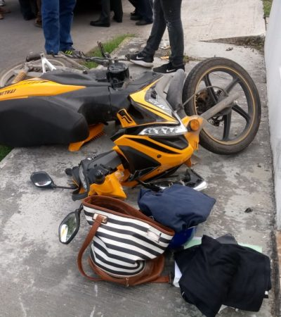 Taxista chetumaleño provoca accidente