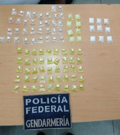 Detienen a hombre con 100 dosis de cocaína en Cancún