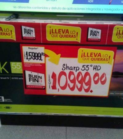 Venden 200 televisores a precio 'super rebajado' por error de etiquetado