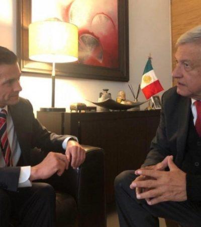 Invita López Obrador a Peña Nieto a comer en su casa en 'plan amistoso', dice el tabasqueño