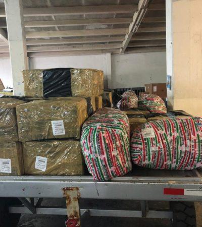 DETIENEN FEDERALES A POLICÍA DE CANCÚN: Buscaba recoger cargamento 'pirata'; trató de intimidar, sobornar y terminó suplicando