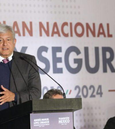 Recibe Plan de Paz y Seguridad de AMLO aplausos del sector empresarial y rechifla de colectivos