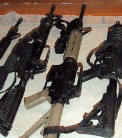 Roban armas del Servicio de Administración y Destino de Bienes Asegurados en Tabasco