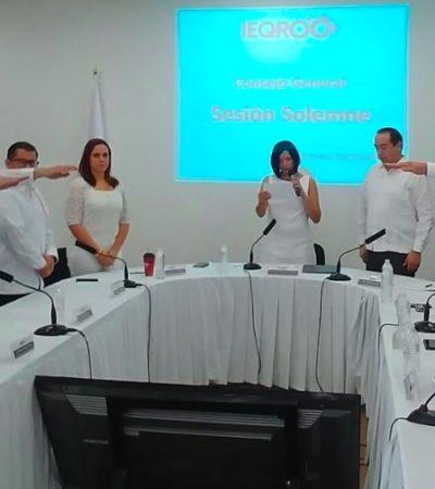 Rinden protesta nuevos consejeros del Ieqroo en Chetumal