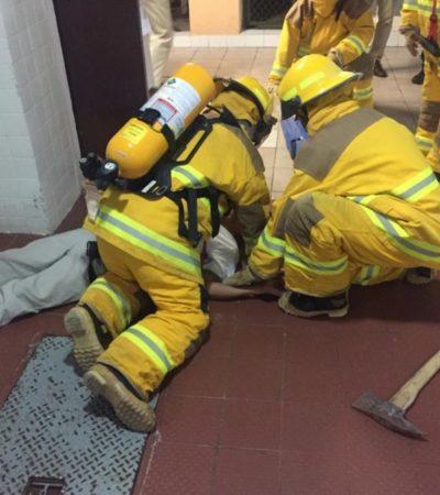 Autoridades y personal, realizan simulacro de incendio en zona hotelera de Cancún