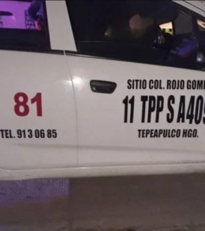 OCURRIÓ EN HIDALGO: Roban taxi, atropellan a un policía y luego huyen en la misma patrulla que los perseguía