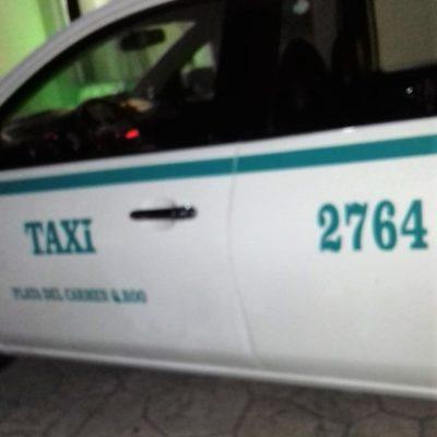Balean a taxista; se refugia en hotel de la Riviera Maya