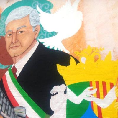 Engalanan la modesta Villa Tepetitán para festejar la asunción de su hijo pródigo a la presidencia de México