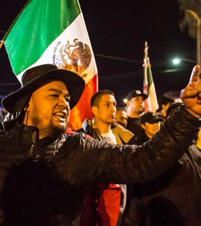 FOTOS | 'Lárguense de aquí, no los queremos', gritan tijuanenses al encarar a caravana de migrantes