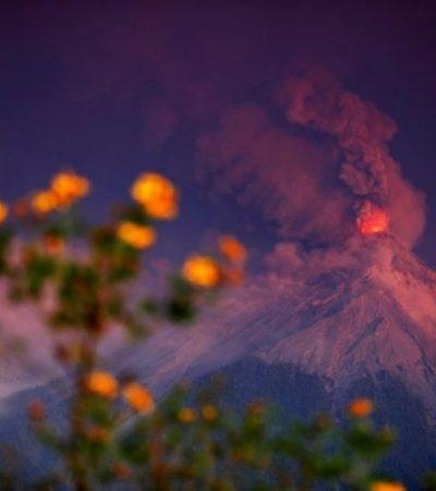 Alerta en Chiapas ante posible caída de ceniza del volcán de Fuego que hizo erupción en Guatemala