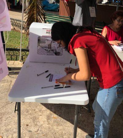 Participan la mitad de votantes previstos en la consulta del Tren Maya en Mérida, Yucatán