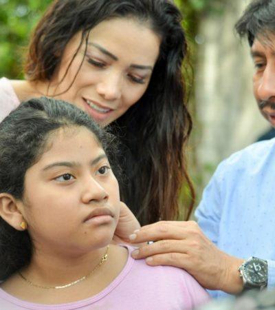 Entrega Alcalde de Tulum aparatos auditivos a niños de la Zona Maya.