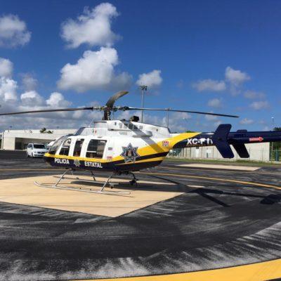 El 'Águila 1', el helicóptero exhibido por Capella, estuvo abandonado durante dos administraciones hasta que fue rescatado por el Gobierno de QR