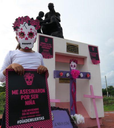 """""""NO ESTAMOS POR HACER UNA TRADICIÓN"""": Piden establecer el 3 de noviembre como 'Día de las Muertas' para exigir justicia para víctimas de feminicidios"""